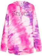 Ashish Tie Dye Respect Hoodie - Pink