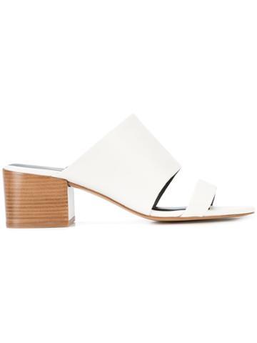 3.1 Phillip Lim Double-strap Cube Mules - White