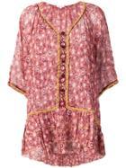 Poupette St Barth Floral Print Mini Dress - Pink