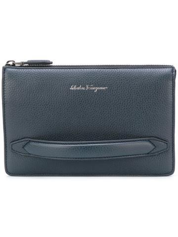 Salvatore Ferragamo - Firenze Clutch Bag - Men - Leather - One Size, Blue, Leather