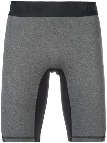 Adidas Alphaskin Sport Short Tights - Grey