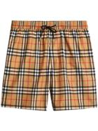 Burberry Vintage Check Drawcord Swim Shorts - Yellow & Orange