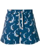 Band Of Outsiders Shark Track Shorts - Blue