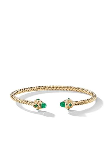 David Yurman 18kt Yellow Gold Renaissance Emerald Cuff - 88fem