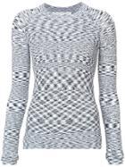 Veronica Beard Geometric Patterned Knit Top - Black