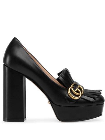 Gucci Platform Fringe Loafers - Black