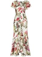 Etro Floral Print Ruffled Dress - 990 Multicoloured