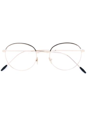 Giorgio Armani - Round Frame Glasses - Men - Metal - 50, Grey, Metal