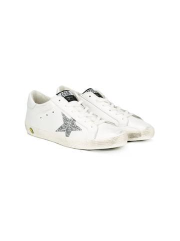 Golden Goose Deluxe Brand Kids Teen Superstar Sneakers - White