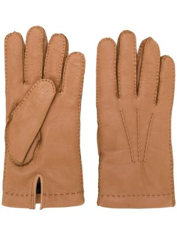 Omega Pre-owned Classic Gloves - Brown