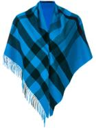 Burberry Cashmere Check Bandana - Blue