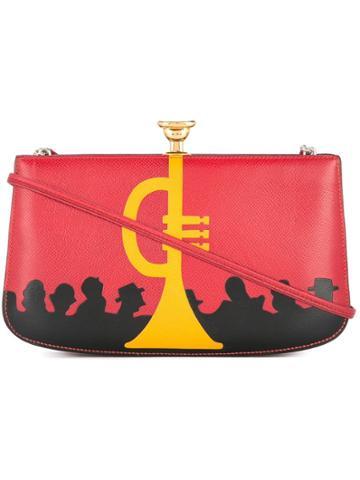 Hermès Vintage Hermes Sac A Malice Pochette Shoulder Bag - Red
