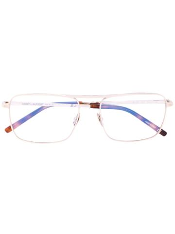 Saint Laurent - Handle Glasses - Unisex - Metal (other) - One Size, Brown, Metal (other)