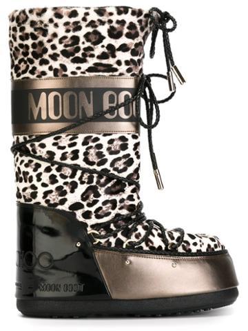 Moon Boot Jimmy Choo X Moon Boot Leopard Print Boots