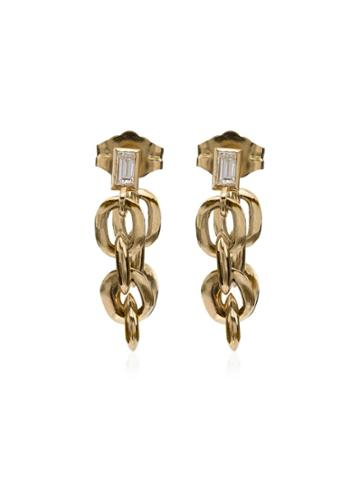Lizzie Mandler Fine Jewelry Xs Knife Edge Oval Link Chain Huggies -