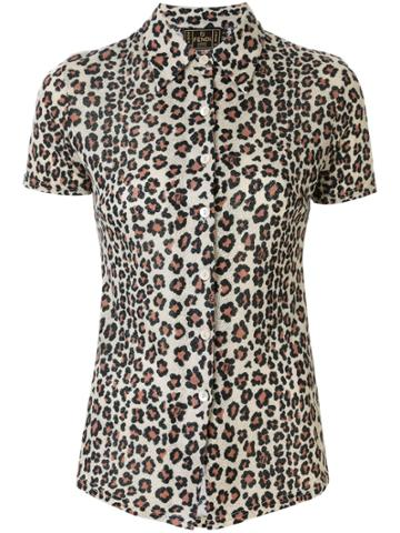 Fendi Pre-owned Leopard Print Short-sleeved Shirt - Brown