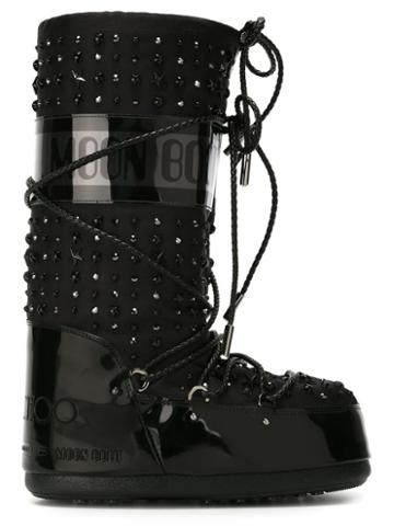 Moon Boot Jimmy Choo X Moon Boot Crystal Studded Boots