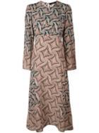 Etro Paisley Patterned Dress, Women's, Size: 44, Yellow/orange, Silk