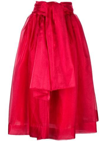 Givenchy Vintage 1968 Belted Full Skirt - Red