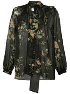 Zimmermann Sheer Floral Blouse - Black