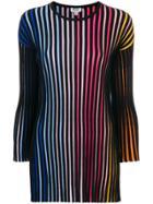 Kenzo Striped Long Top - Black