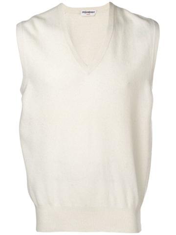Yves Saint Laurent Vintage Ysl Sweater - White