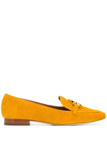 Tory Burch Logo Plaque Loafers - Yellow