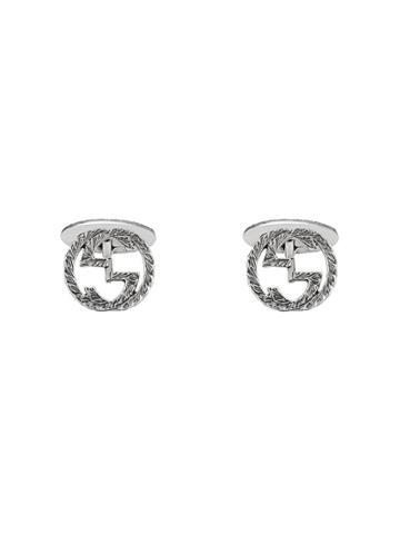 Gucci Interlocking G Cufflinks - Silver