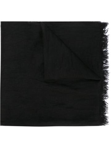 Faliero Sarti Nube Scarf, Women's, Black, Linen/flax
