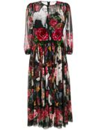 Dolce & Gabbana Printed Chiffon Dress - Multicolour