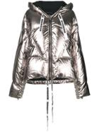 Khrisjoy Hooded Puffer Jacket - Metallic