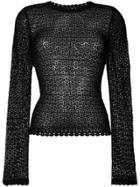 Dolce & Gabbana Sheer Fine Knit Top - Black