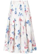 Olympiah Jellyfish Print Midi Skirt - Multicolour
