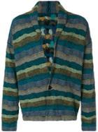 Nuur Striped Cardigan - Green