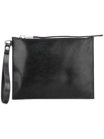 Rick Owens Zipped Clutch, Women's, Black, Horse Leather/calf Leather