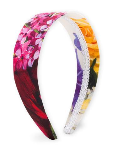 Dolce & Gabbana Kids Floral Print Headband - Pink