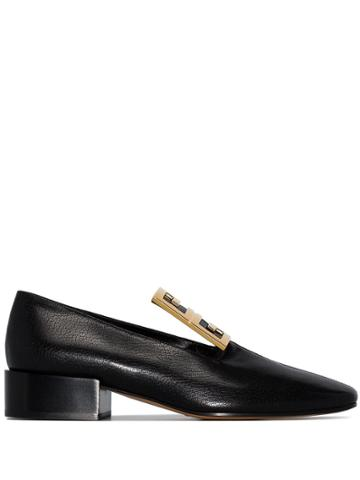 Givenchy Black 4g Gold-tone Buckled Loafers