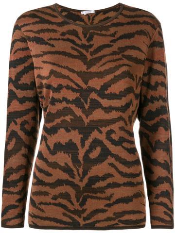Yves Saint Laurent Vintage Ysl Top - Brown