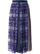 Kolor Asymmetric Pleated Skirt