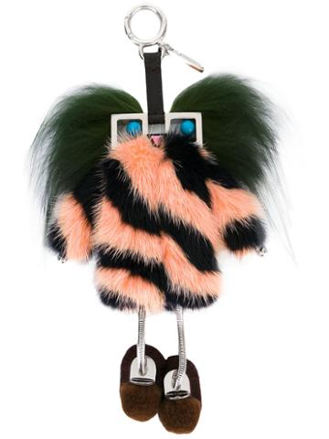 Fendi - 'witches' Bag Charm - Women - Fox Fur/leather/mink Fur/metal (other) - One Size, Fox Fur/leather/mink Fur/metal (other)