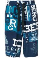 Iceberg All Over Logo Shorts - Blue