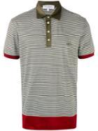 Salvatore Ferragamo - Striped Polo Shirt - Men - Cotton - L, Green, Cotton