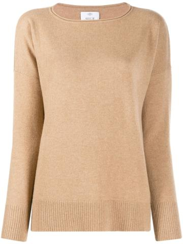 Allude Dropped Shoulders Jumper - Brown