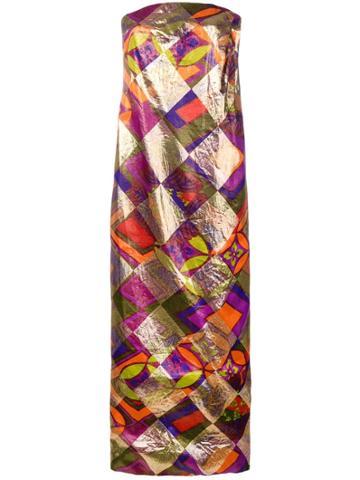 A.n.g.e.l.o. Vintage Cult 1960 Geometric Print Dress - Gold
