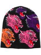 Gucci Tiger Knit Beanie - Black
