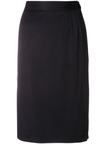 Yves Saint Laurent Vintage 1980's Ysl Skirt - Blue