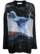 Coach Dinosaur Embroidered Sweater - Black
