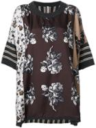 Antonio Marras Contrast Pattern Top - Brown