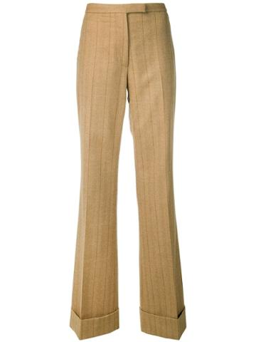 Gianfranco Ferre Vintage 1990 Pinstriped Trousers - Neutrals