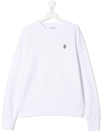 Marcelo Burlon County Of Milan Kids Wing Print Sweatshirts - White